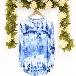 Blue Tie Dye Blouse